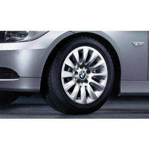 BMW Winterkompletträder Vielspeiche 282 silber 16 Zoll 3er E90 E91