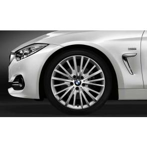 BMW Alufelge Vielspeiche 399 bicolor (silber/glanzgedreht) 8,5J x 19 ET 47 Hinterachse 3er F30 F31 4er F32 F33 F36