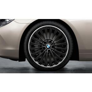 BMW Kompletträder Vielspeiche 410 bicolor (schwarz / glanzgedreht) 20 Zoll 5er F10 F11 6er F06 F12 F13