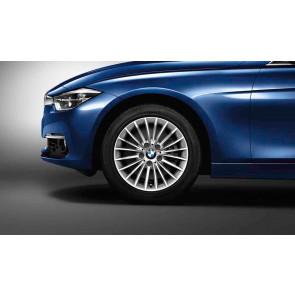 BMW Kompletträder Vielspeiche 414 reflexsilber 17 Zoll 3er F30 F31 4er F32 F33 F36 RDCi