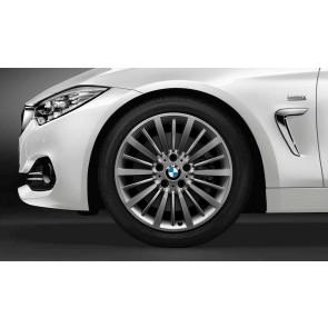 BMW Alufelge Vielspeiche 416 bicolor (ferricgrey / glanzgedreht) 8J x 18 ET 34 Vorderachse / Hinterachse 3er F30 F31 F34 4er F32 F33 F36