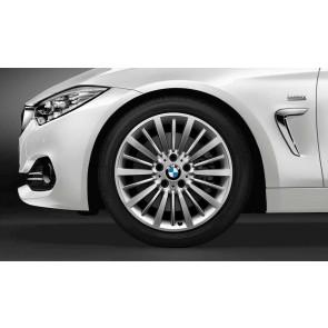 BMW Kompletträder Vielspeiche 416 bicolor (silber / glanzgedreht) 18 Zoll 3er F34 RDCi