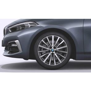 BMW Kompletträder Vielspeiche 488 bicolor (orbitgrey / glanzgedreht) 18 Zoll 1er F40 2er F44 RDCi