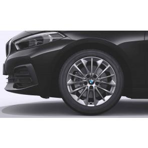 BMW Alufelge Vielspeiche 546 reflexsilber 7,5J x 17 ET 54 Vorderachse / Hinterachse 1er F40 2er F44 F45 F46