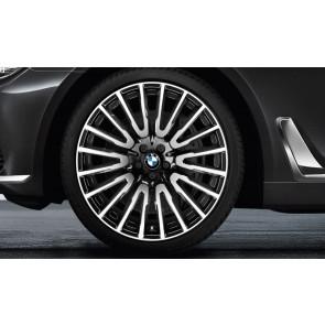 BMW Kompletträder Vielspeiche 629 bicolor (orbitgrey / glanzgedreht) 21 Zoll 6er G32 7er G11 G12 (Mischbereifung)