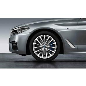 BMW Winterkompletträder W-Speiche 632 reflexsilber 18 Zoll 5er G30 G31 RDCi