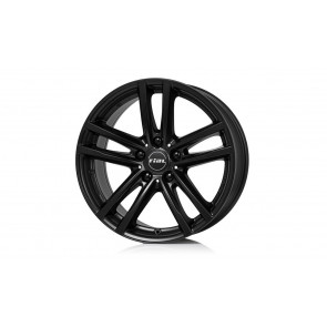 RIAL Kompletträder X10 schwarz matt 18 Zoll 5er F10 F11 6er F12 F13