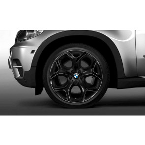 BMW Alufelge Y-Speiche 214 schwarz 10J x 20 ET 40 Vorderachse X5 E70 X6 E71 E72