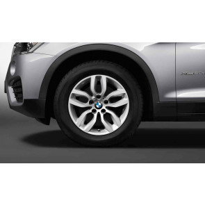 BMW Winterkompletträder Y-Speiche 305 silber 17 Zoll X3 F25 X4 F26 RDC LC