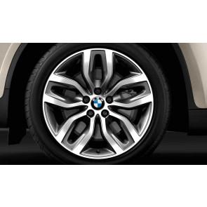 BMW Kompletträder Y-Speiche 337 bicolor (schiefergrau / glanzgedreht) 20 Zoll X5 E70