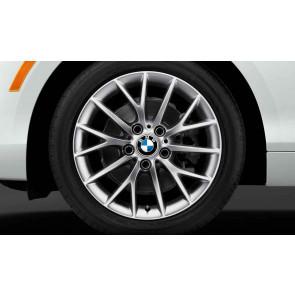 BMW Winterkompletträder Y-Speiche 380 reflexsilber 17 Zoll 1er F20 F21 2er F22 F23 RDCi