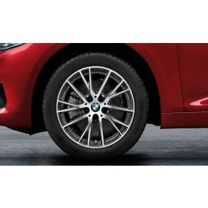 BMW Winterkompletträder Y-Speiche 489 bicolor (orbitgrey / glanzgedreht) 17 Zoll 1er F40 RDCi