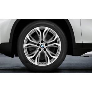 BMW Winterkompletträder Y-Speiche 566 bicolor (ferricgrey / glanzgedreht) 18 Zoll X1 F48 X2 F39