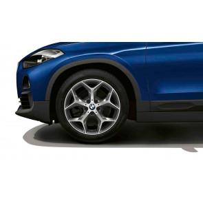 BMW Winterkompletträder Y-Speiche 569 bicolor (orbitgrey / glanzgedreht) 18 Zoll X1 F48 X2 F39