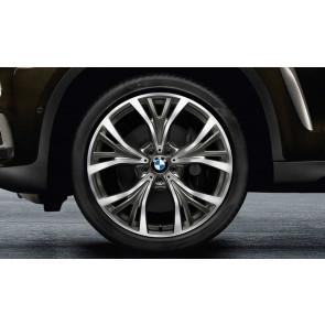 BMW Kompletträder Y-Speiche 627 bicolor (ceriumgrau / glanzgedreht) 21 Zoll X5 F15 X6 F16 RDCi (Mischbereifung)