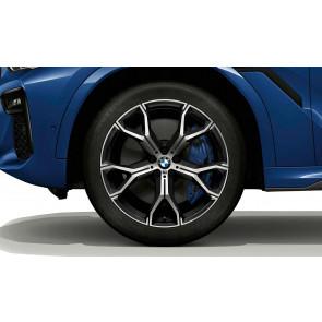 BMW Winterkompletträder Y-Speiche 741 orbitgrey 21 Zoll X5 G05 X6 G06 RDCi (Mischbereifung)