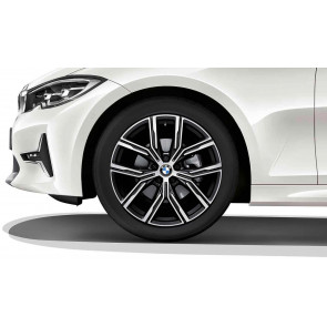 BMW Kompletträder Y-Speiche 783 bicolor (jet black uni / glanzgedreht) 19 Zoll 3er G20 G21 G28 4er G22 RDCi