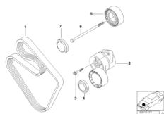 Riementrieb für Wasserpumpe / Generator