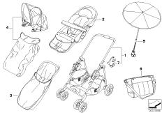 BMW Buggy chrom-marine mit Zubehör
