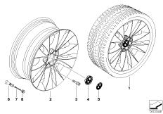 BMW LM Rad Doppelspeiche 116