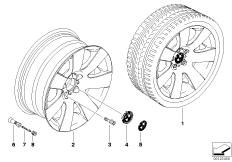 BMW LM Rad Sternspeiche 123