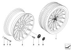 BMW LM Rad Radialspeiche 32