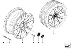 BMW LM Rad Radialspeiche 50