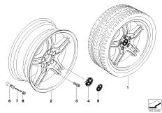 BMW LM Rad Doppelspeiche 125
