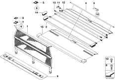 Sichtschutzrollo / Trennnetzrollo