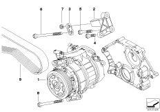 Klimakompressor-Anbauteile / Riementrieb
