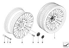 BMW LM Rad Radialspeiche 118