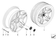 BMW LM Rad Doppelspeiche 129
