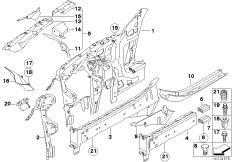 Radhaus / Motorträger