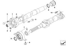 Gelenkwelle-Gelenkscheibe / Mittellager