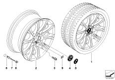 BMW LM Rad M Doppelspeiche 135