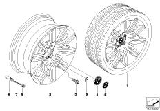 BMW LM Rad M Doppelspeiche 172