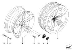 BMW LM Rad M Doppelspeiche 184