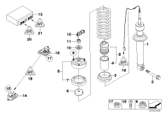 Federbein hinten EDC / Steuergerät / Sensor