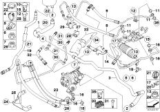 Hydrolenkung Ölleitungen / Dynamic Drive