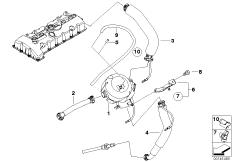 Kurbelgehäuse-Entlüftung / Ölabscheider
