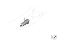 Handbremsgriff mit Chrom-Spange