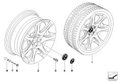 BMW LM Rad Sternspeiche 185