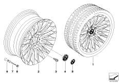 BMW LM Rad Radialspeiche 187