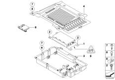Einzelteile SA 644 Gepäckraum / USB