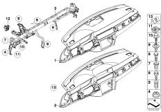 Verkleidung Instrumententafel Tragrohr