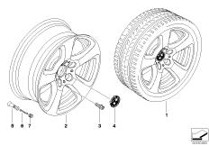 BMW LM Rad Sternspeiche 243