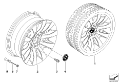 BMW LM Rad Radialspeiche 244