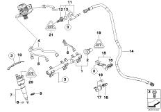 Hochdruckrail / Injektor / Leitung