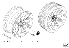 BMW LM Rad V-Speiche 245