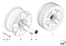 BMW LM Rad Sternspeiche 242